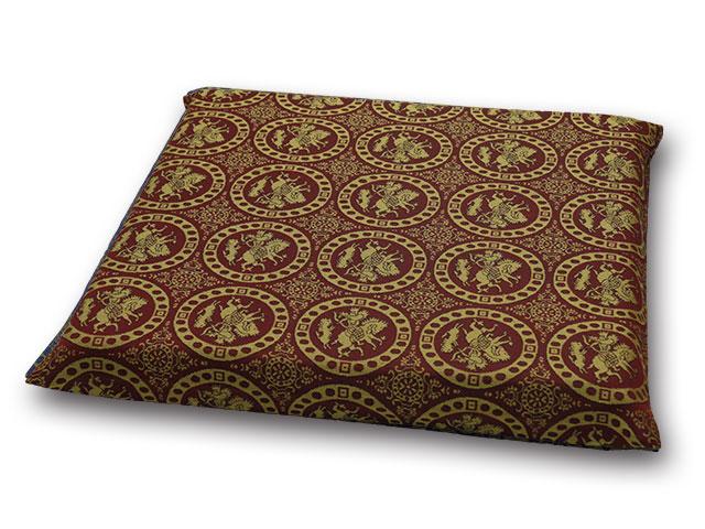 紬織り座布団カバー織り